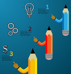 Pencil modern template vector