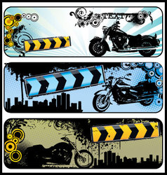 biker grunge banners vector image