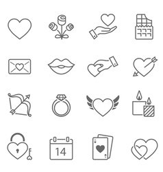 Valentine outline stroke icon vector