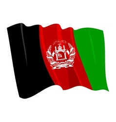 Political waving flag of afghanistan vector