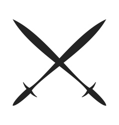 History lance tool two crossed ancient spears flat vector