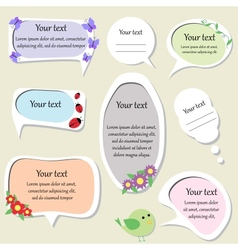 Set of cute text frames vector