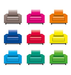 armchair set vector image vector image