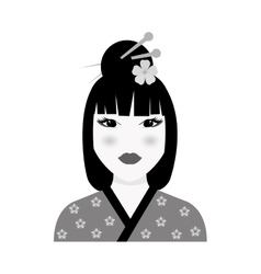 Beautiful geisha face vector image vector image