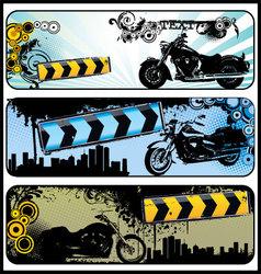 biker grunge banners vector image vector image