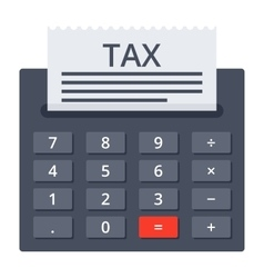Calculator with tax form vector