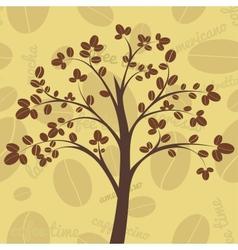 Coffee tree vector image vector image