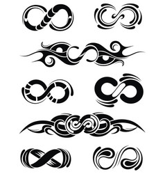 collection of infinities vector image