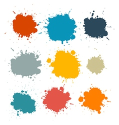 Colorful Retro Stains Blots Splashes Set vector image vector image