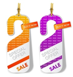 Door tags labels Special offer vector image