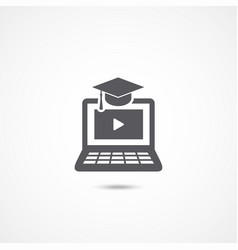e-learning icon on white vector image