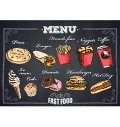 Fastfood menu vector image
