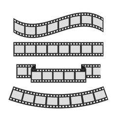 Film strip frame set different shape ribbon vector