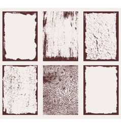 Grunge Frames Textures 2 vector image
