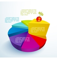 Infographics bright circle segments vector