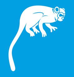 Marmoset monkey icon white vector