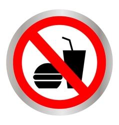 no food allowed symbol vector image vector image