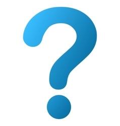 Question gradient icon vector