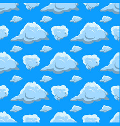 seamless pattern clouds clouds isolated on blue vector image vector image