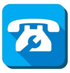 Service telephone icon vector