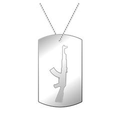 Silver soldier badge vector image