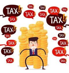 tax menace vector image vector image