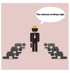 The customer is always right concept vector image