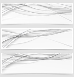 Three shadow swoosh header set layout vector