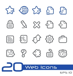 Web Icons Outline Series vector image vector image