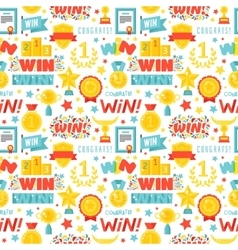 Winner seamless pattern with gold cup vector image vector image