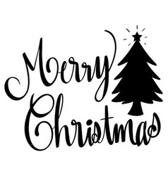 Word expressions for merry christmas vector