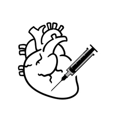 Heart medical care design vector