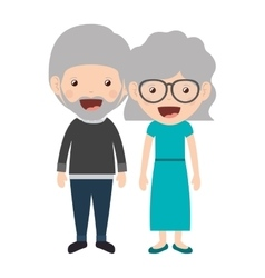 Cartoon grandparents design vector