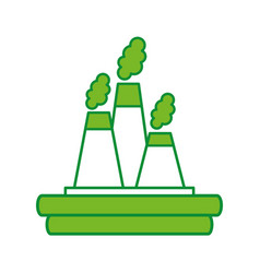Factory industry chimney icon vector