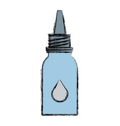 Medicine eye drop bottle vector