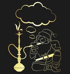 hookah and Santa Claus vector image