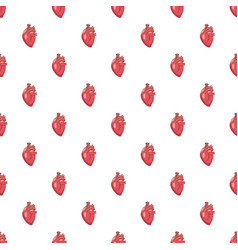 human heart pattern vector image