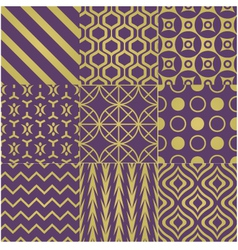 Seamless purple gold pattern vector