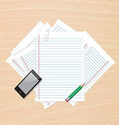 Paper on table vector