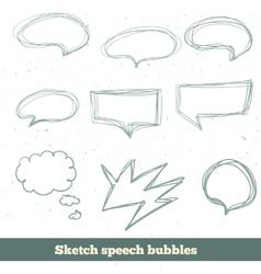 sketch speech bubbles set EPS10 vector image
