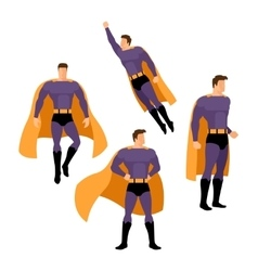 Superhero poses vector image