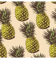 Seamless pineapple vector