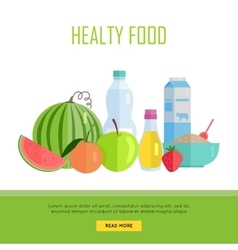 Healthy food concept web banner vector
