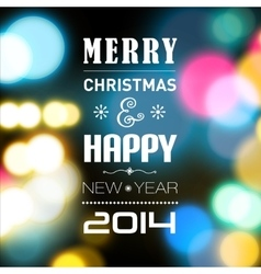 Merry christmas and happynewyear card with lights vector