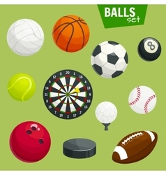 Sport balls set sports gaming accessories vector