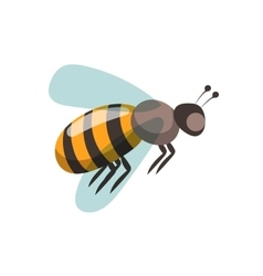 Bee cartoon style vector