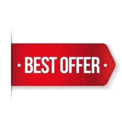 Best Offer red ribbon vector image vector image
