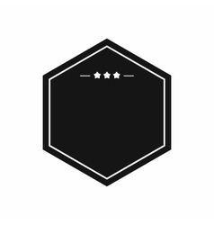 Black badge with three stars icon simple style vector