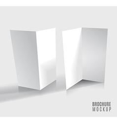 Brochure design isolated on grey vector image