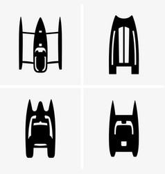 catamarans vector image vector image